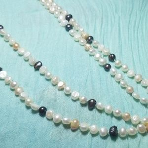 Tahitian fresh water pearls necklaces